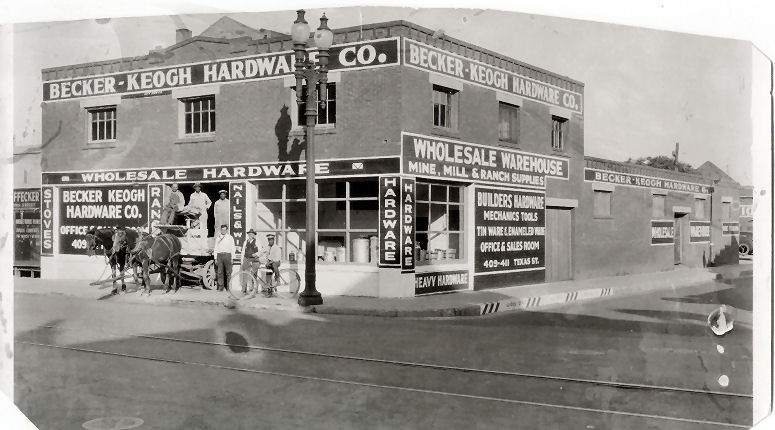 Becker-Keogh Hardware Co., El Paso, Texas